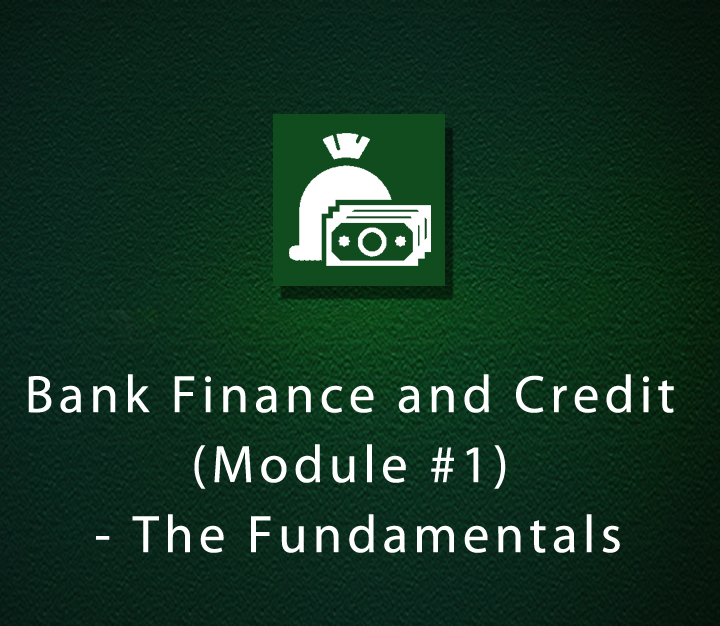 Bank Finance and Credit (Module #1) - The Fundamentals
