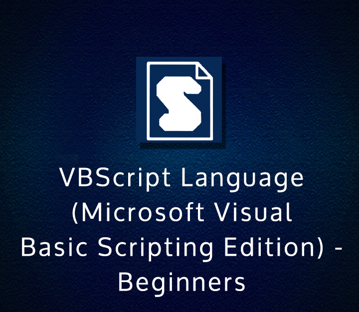 VBScript Language (Microsoft Visual Basic Scripting Edition) - Beginners